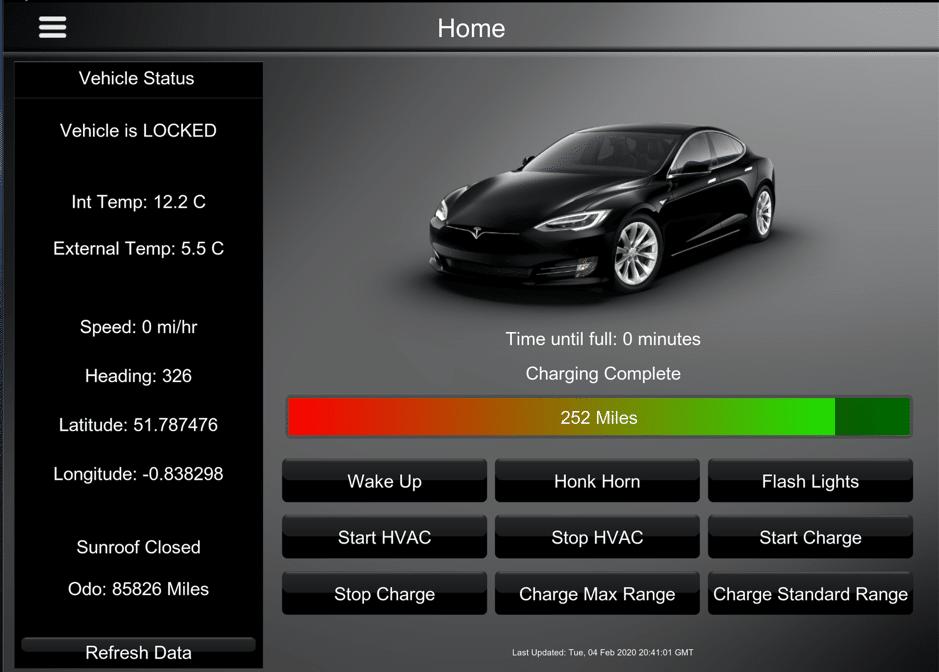 Tesla Driver Interface