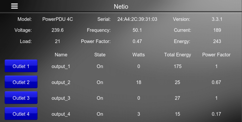 Netio Pro Driver for Elan Interface